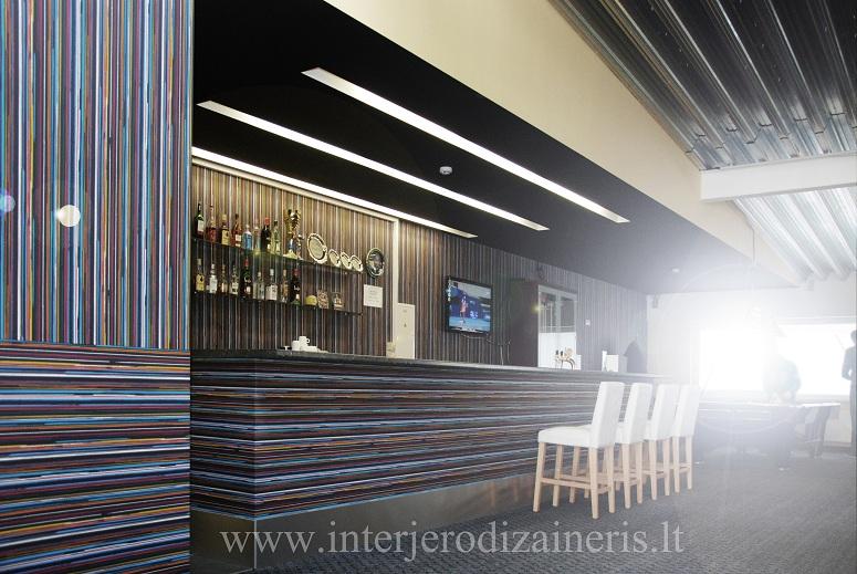 Billiard club interior